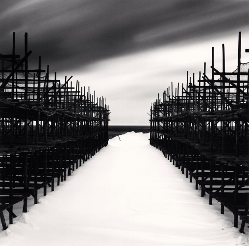 Michael Kenna, Fish Drying Racks, Wakkanai, Hokkaido, Japan. 2004