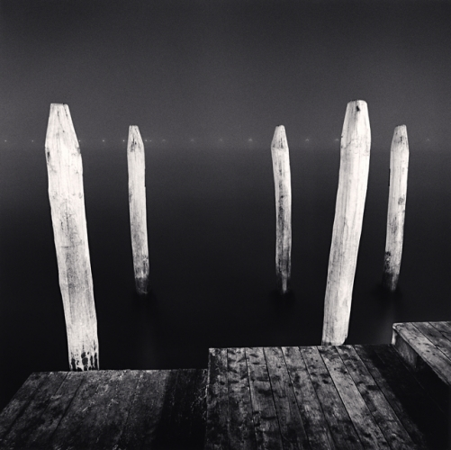 Michael Kenna, Five White Posts, Venice, Italy, 2008