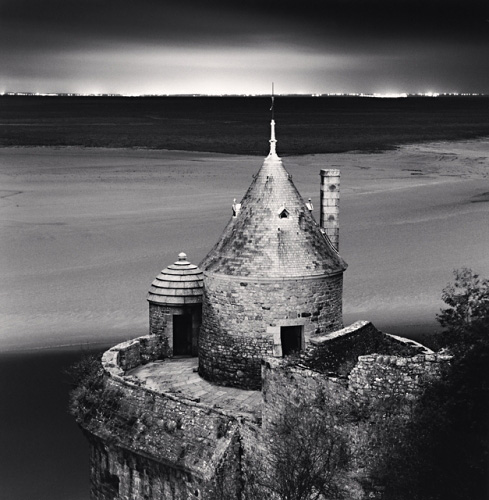 Michael Kenna, Gabriel's Tower, Study 2, Mont St. Michel, France, 2004