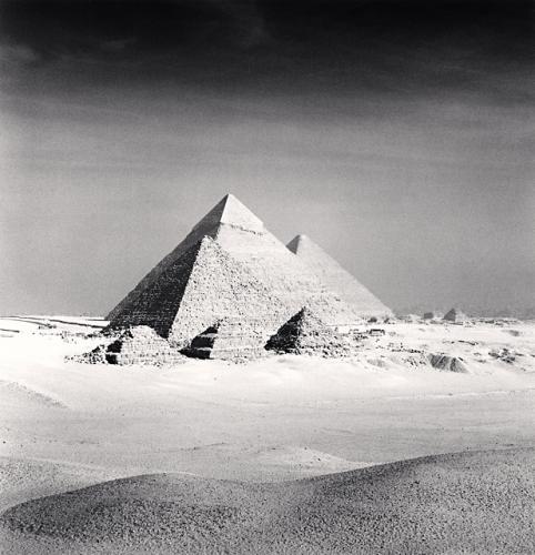 Michael Kenna, Giza Pyramids, Study 6, Cairo, Egypt, 2009