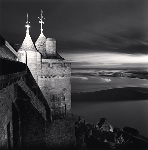 Michael Kenna, Monastery Walls, Mont St. Michel, France, 2004