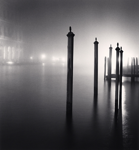 Michael Kenna, Night Docking Poles, Venice, Italy, 2007