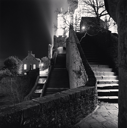 Michael Kenna, Outer Staircase, Mont St. Michel, France, 2004