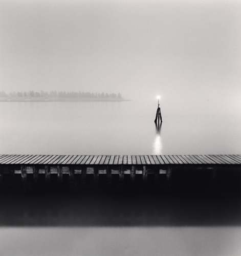 Michael Kenna, Pier and Navigation Lamp, Venice, Italy, 2006