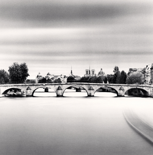Michael Kenna, Pont Royal, Study 2, Paris, France, 2011