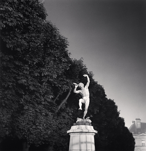 Michael Kenna, Statue of Pan, Luxembourg Gardens, Paris, France, 1988