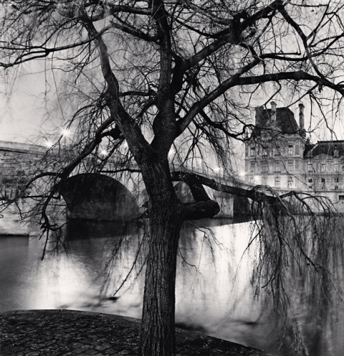 Michael Kenna, Tree, Pont Royal and Louvre, Paris, France. 2013