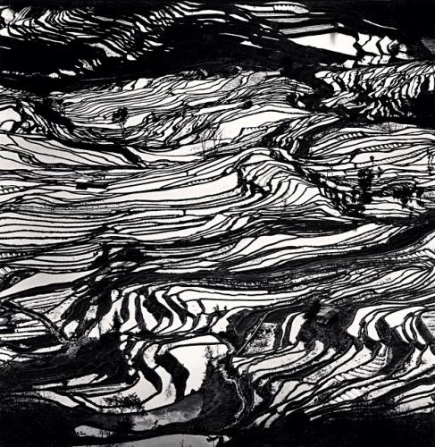 Michael Kenna, Yuanyang, Study 3, Yunnan, China, 2013