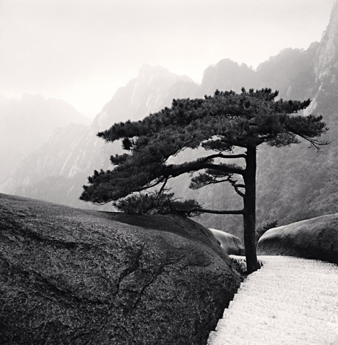 Michael Kenna, Huangshan Mountains, Study 18, Anhui, China, 2009