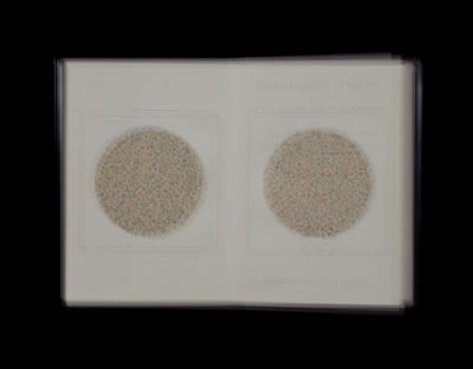 Doug Keyes, Ishihara's Test for Colour-Blindness, 2001, 13.5 x 17.25 x 1.5 inches, edition of 6