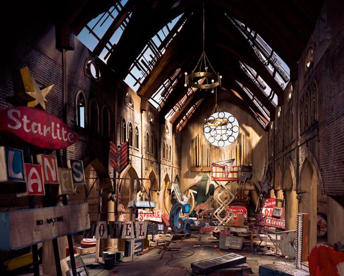 Lori Nix, Church, 2009