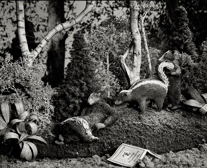 Lori Nix, Skunks, 2010