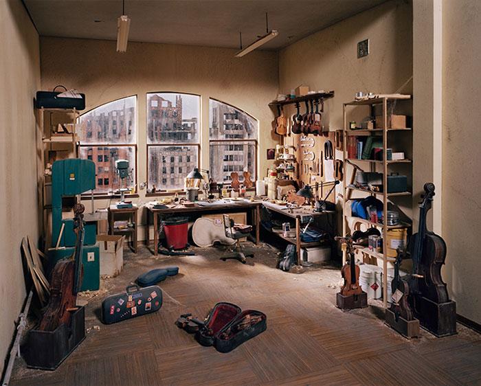 Lori Nix, Violin Repair Shop, 2011