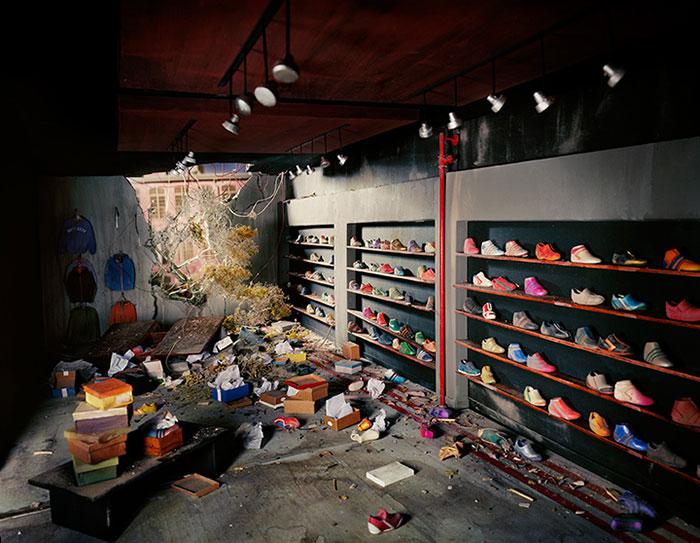Lori Nix, Shoe Store, 2013