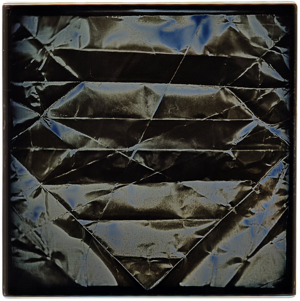 Eirik Johnson / Daniel Carrillo, Origami #7, 2017, daguerreotype, 6 x 6 inches, $3000.