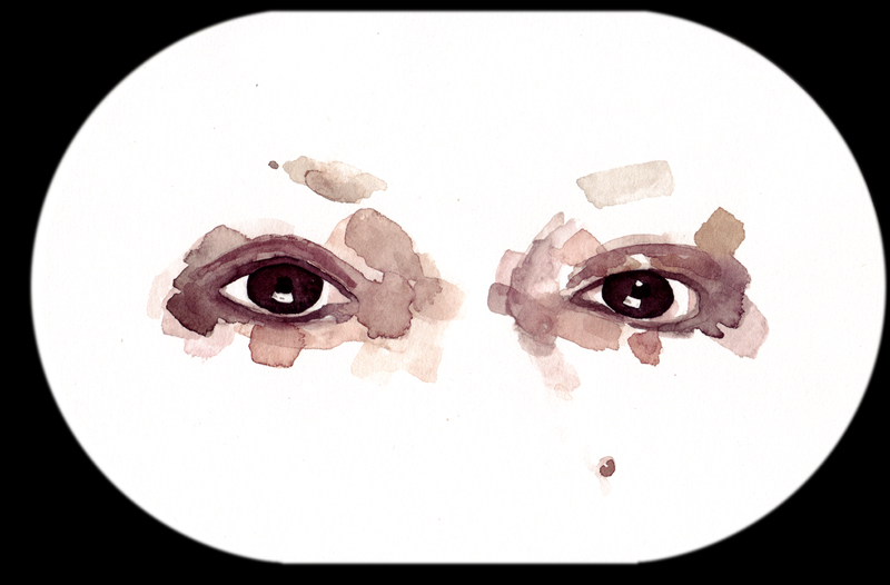 Samantha Scherer, Andre Benjamin, 2006, watercolor on paper, 6 x 9 inches, $350.