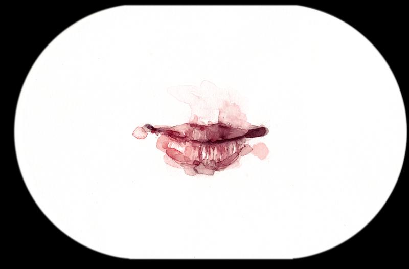 Samantha Scherer, Cillian Murphy, 2006, watercolor on paper, 6 x 9 inches, $350.