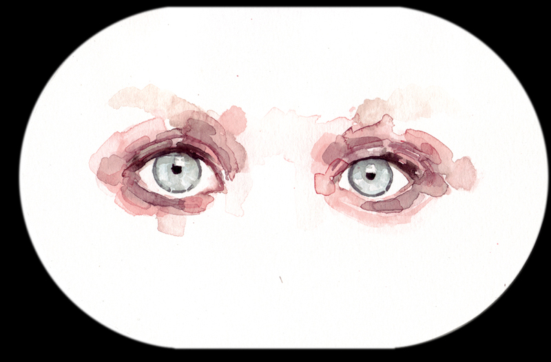 Samantha Scherer, Olsen, 2006, watercolor on paper, 6 x 9 inches, $350.