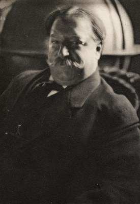 Edward Steichen, Henry W. Taft (William Howard Taft) from Camera Work XLII/XLIII, 1913, hand-pulled photogravure on tissue paper, 7.5 x 5 inches