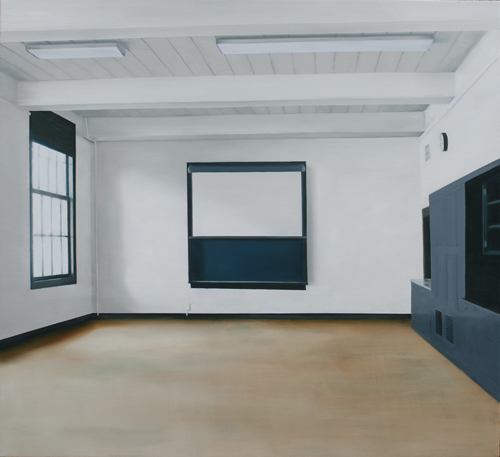 Thuy-Van Vu, Classroom (Former P.S), 2014 oil on canvas, 42 x 46 inches, $4,500.