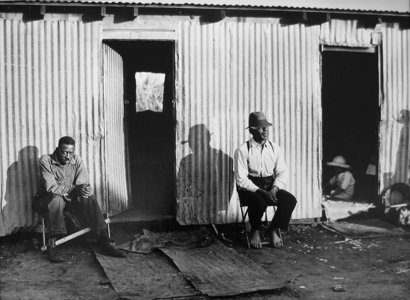 Marion Post Wolcott, Quarters for migrants in Lake O'Keechobee area, Florida, ca. 1939, gelatin silver print, signed, 11 x 14 inches
