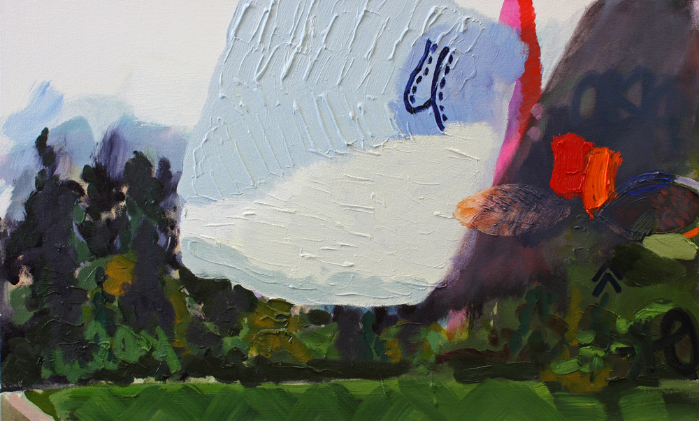 Susanna Bluhm, Yosemite Meadow (the shadows moved across me), 2014, 19 x 31 inches, $2000.