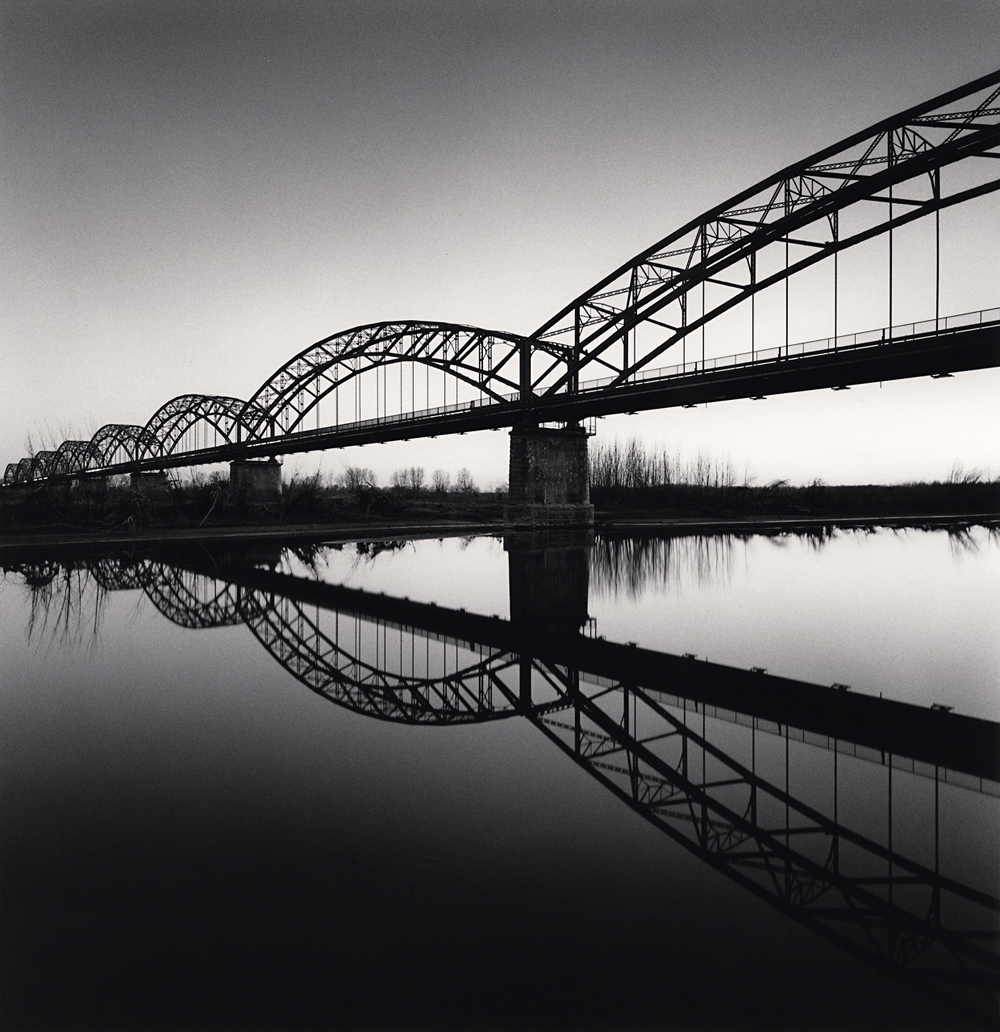 Michael Kenna, Bridge Reflection, Balossa Bigli, Pavia, Italy, 2019
