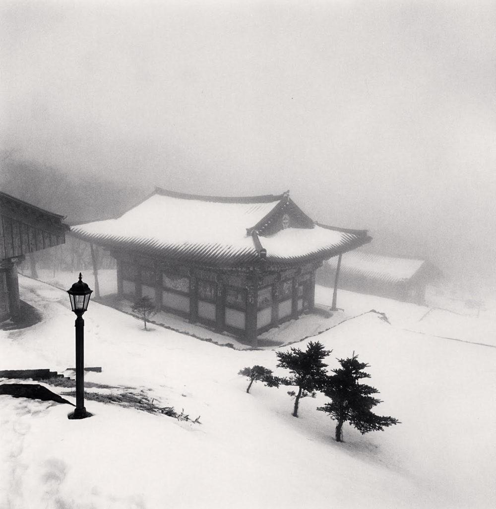 Michael Kenna, Lamp and Temple, Jonjaanji, Jeju Island, South Korea, 2012