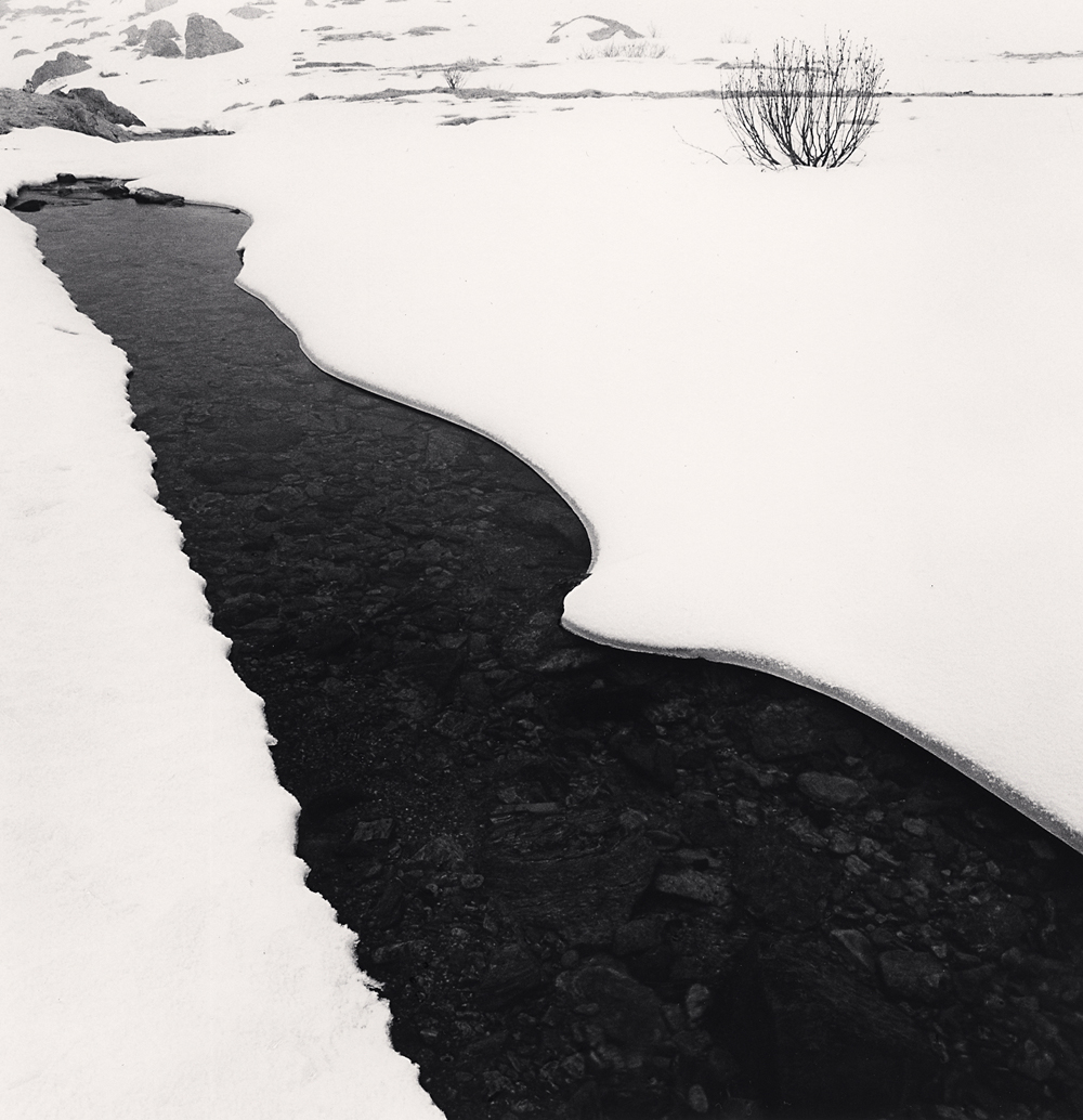 Michael Kenna, River Po in Winter, Pian della Regina, Crissolo, Cuneo, Italy, 2019