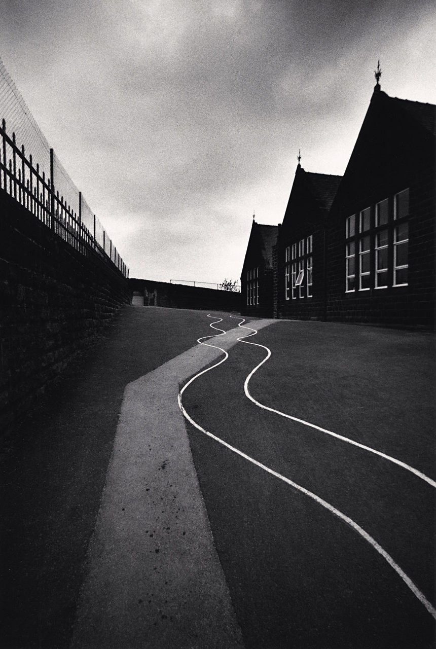 Michael Kenna, School Yard, Heptonstall, Yorkshire, England, 1983
