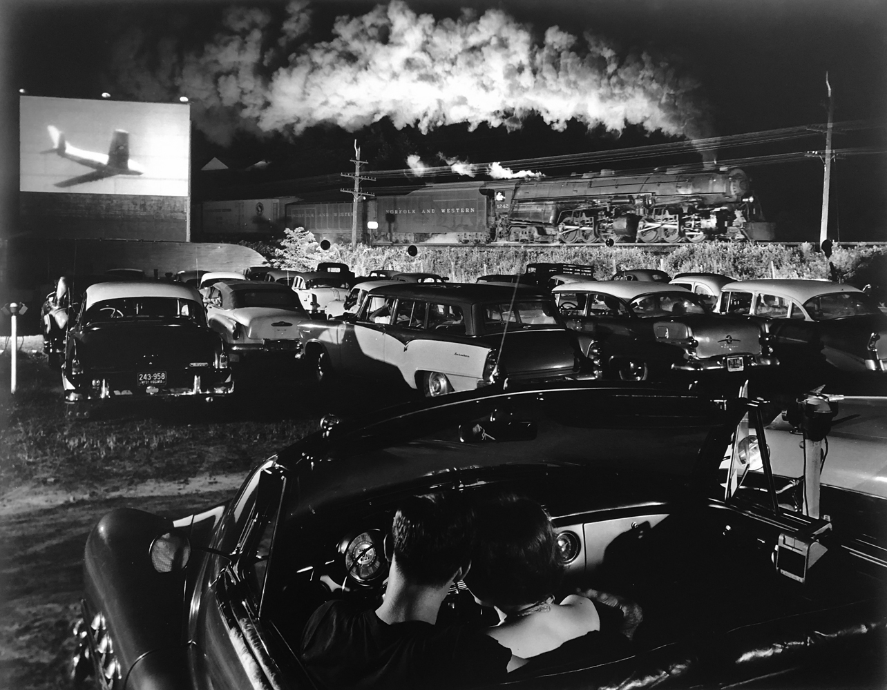 O. Winston Link, Hotshot Eastbound at Iaeger Drive-In, W. VA, 1956, gelatin silver print, 14.25 x 18.25 inches, signed by artist, price on request