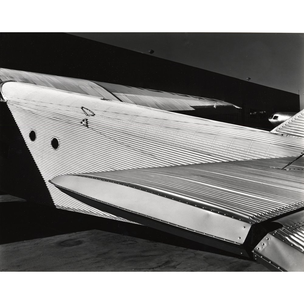 Brett Weston, from Abstractions #2 Portfolio, Ford Trimotor, 1935, 20 gelatin silver prints, 10 x 14 inches, edition of 35, price on request