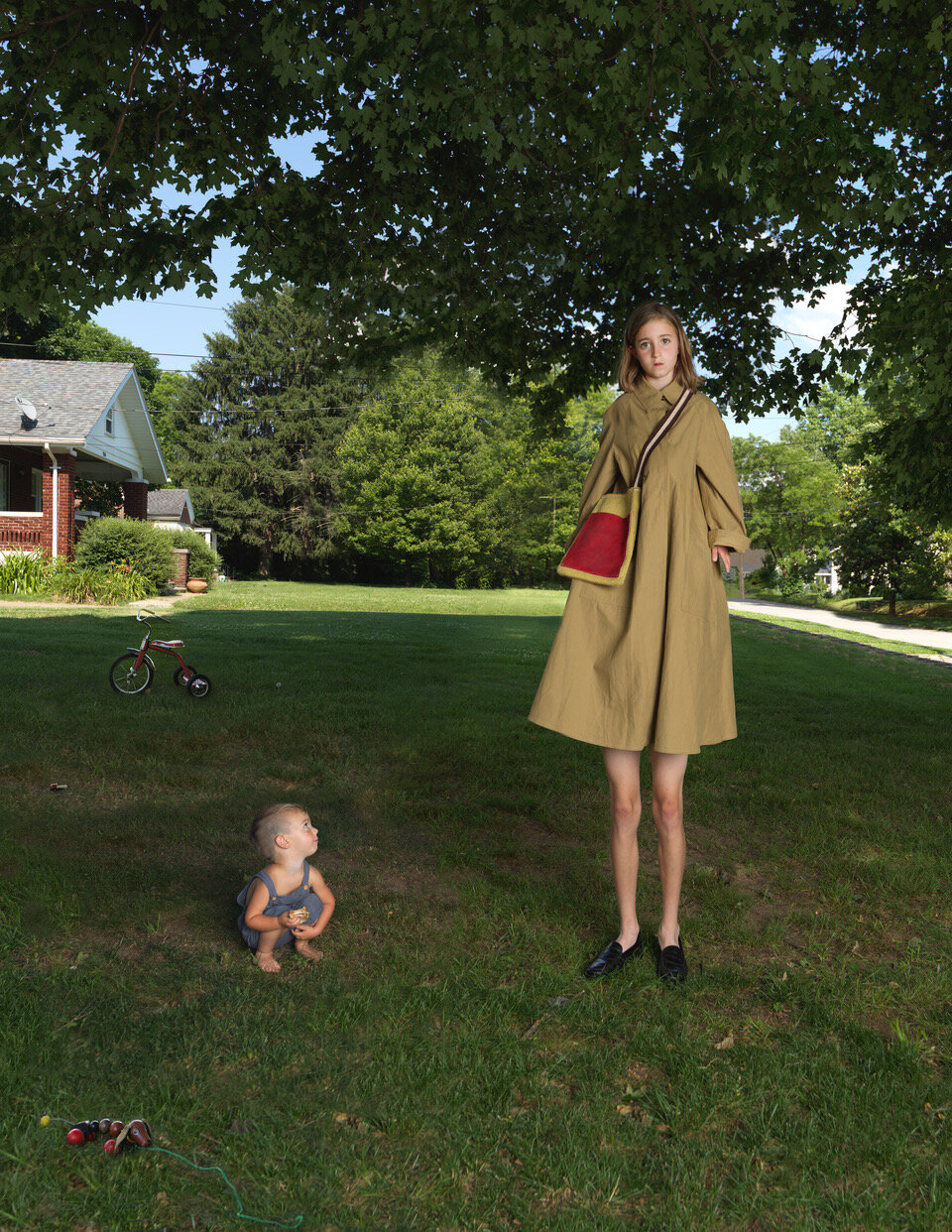 """Julie Blackmon, Tall Girl, 2021, archival pigment print, 26"""" x 32.5"""", 35.75"""" x 45"""", 44"""" x 55.75"""", editions of 7, price on request"""