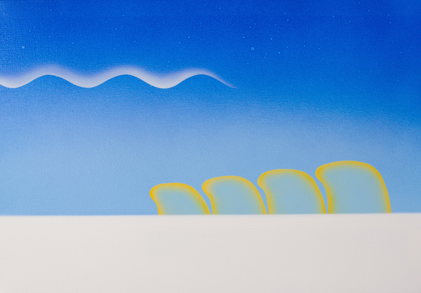 Matt Sellars, After Storm, 2021, acrylic on canvas, 16 x 23 inches, $2000.