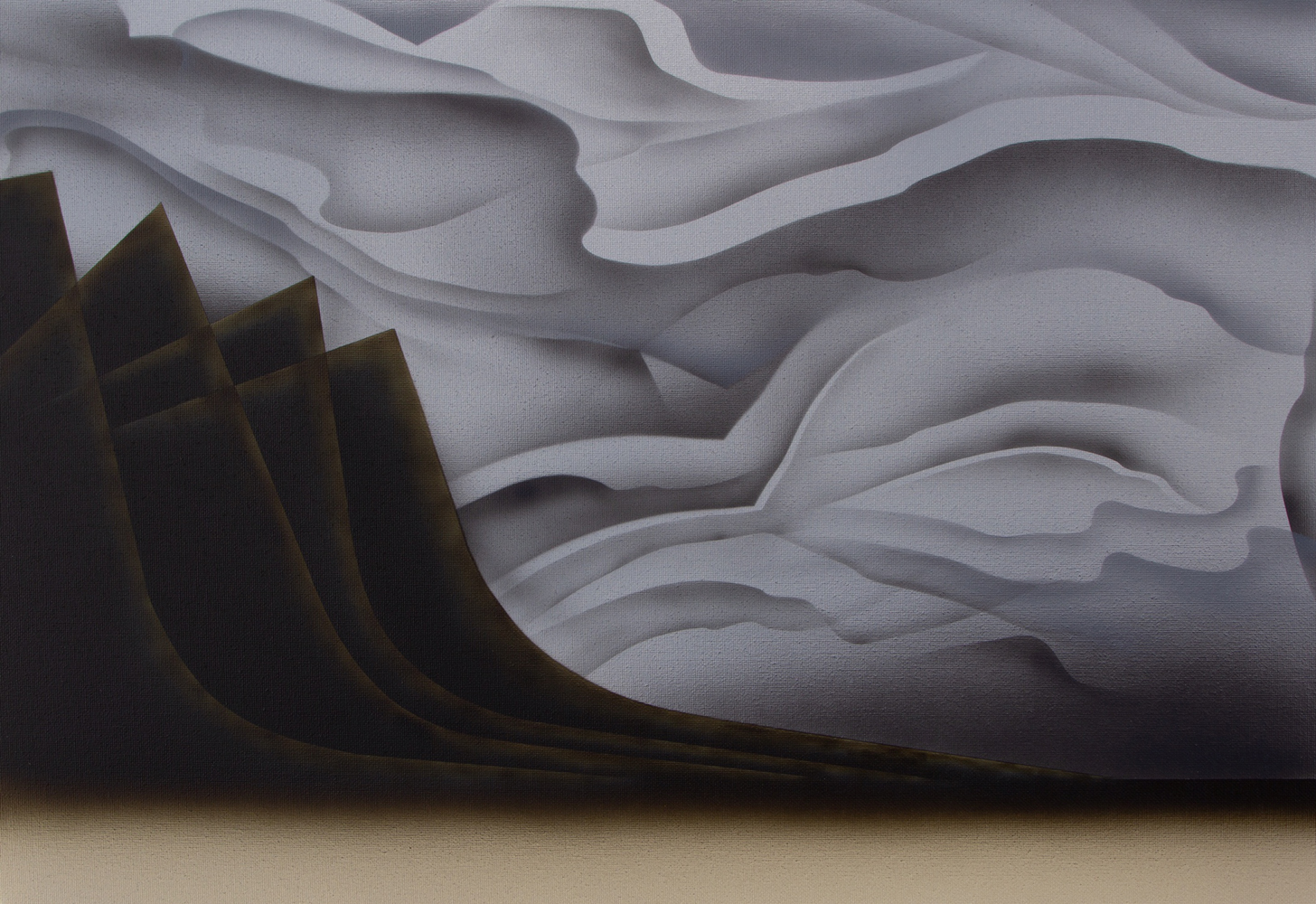 Matt Sellars, Alvord, 2021, acrylic on canvas, 16 x 23 inches, $2000.