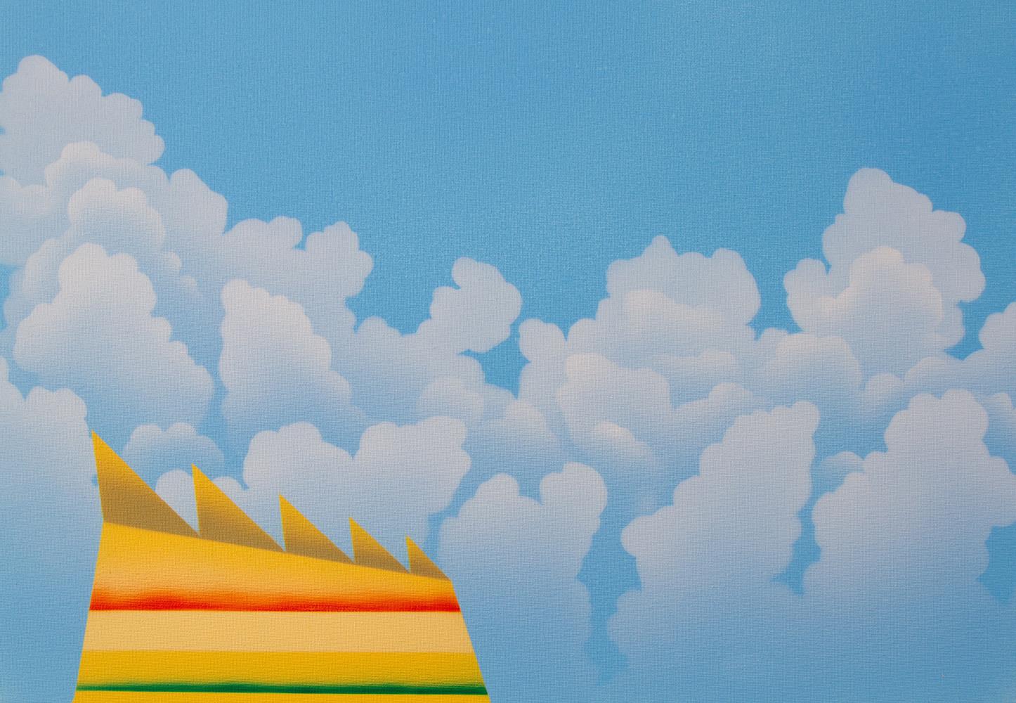 Matt Sellars, Profile, 2021, acrylic on canvas, 16 x 23 inches, $2000.
